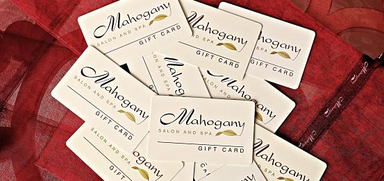 Mahogany Salon and Spa Gift Cards Ottawa Spa gift