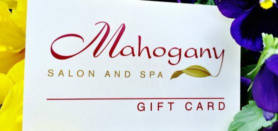 Mahogany Salon and Spa Gift Cards Ottawa Spa gift